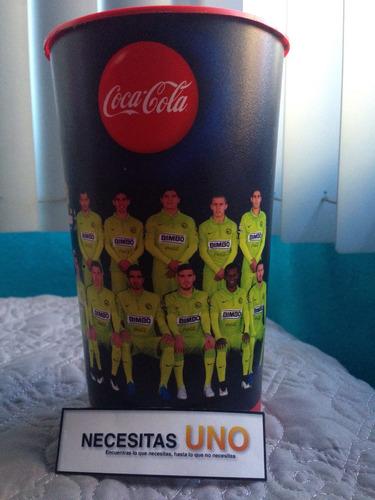 vaso club america - equipo completo (coca-cola)