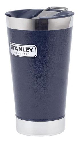 vaso con destapador azul 473ml stanley