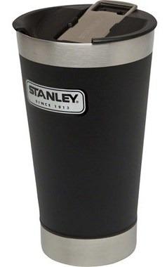 vaso con destapador negro 473ml stanley