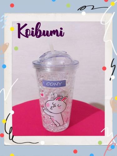 vaso con gel refrigerante. diseño conejo. 450 ml.