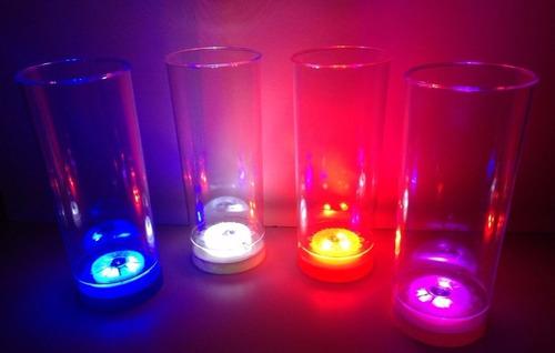 vaso con led - cotillón luminoso - x unidad