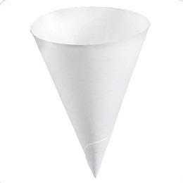vaso cónico de papel primo#104 - 4 oz (caja con 5,000 conos)