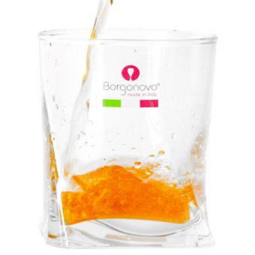 vaso corto 280 ml borgon 11001841e-transparente