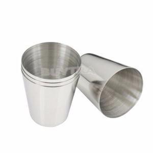 vaso de  acero inoxidable 10 cm altura