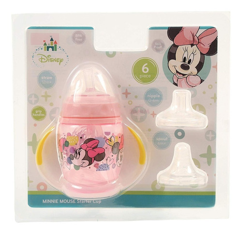 vaso de aprendizaje minnie mouse - paw patrol 6 pieces