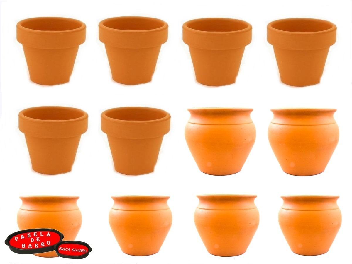 Artesanato Com Tecido De Guarda Chuva ~ Vaso De Barro Pequeno 5 X 5 Cm 36 Unidades Artesanato R$ 56,90 em Mercado Livre