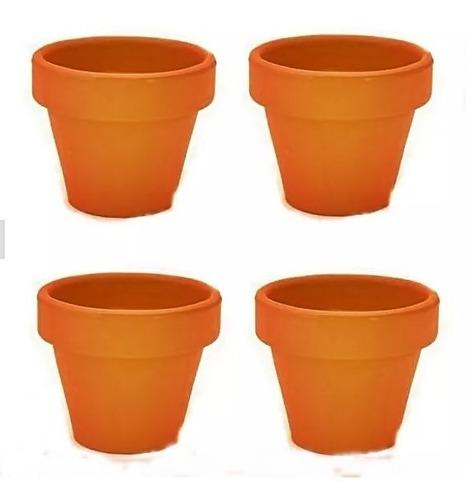 vaso de barro pequeno 5 x 5 cm 60 unidades artesanato