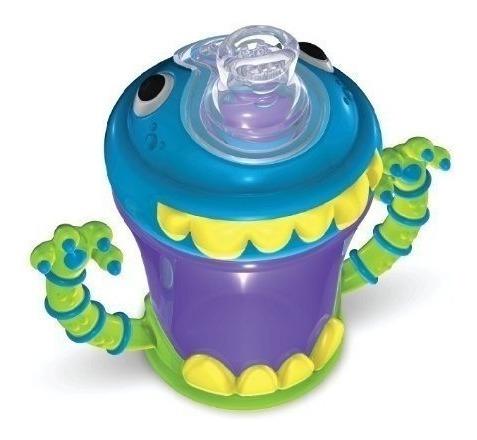 vaso de bebe antivuelco  nuby 210 ml monstruo + de 4 meses