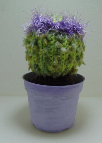 vaso de cactos em crochet
