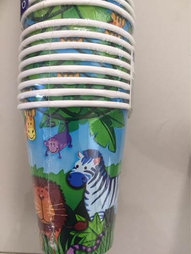 vaso de cartón jungla