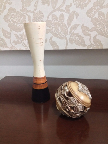 vaso de cerâmica com bola