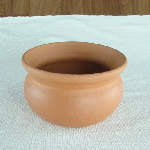 vaso de cerâmica crua - 15cm