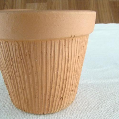 vaso de cerâmica crua - riscado