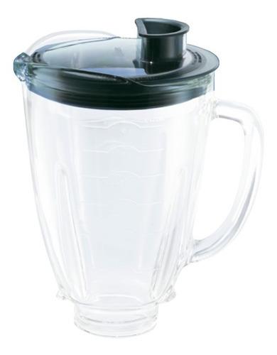 vaso de cristal con tapa para licuadora reversible generica