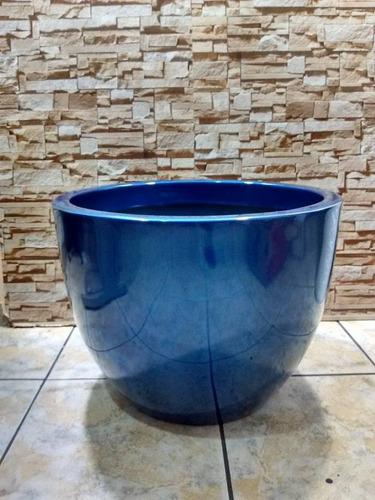 vaso de fibra estilo ceramica vietnamita redondo