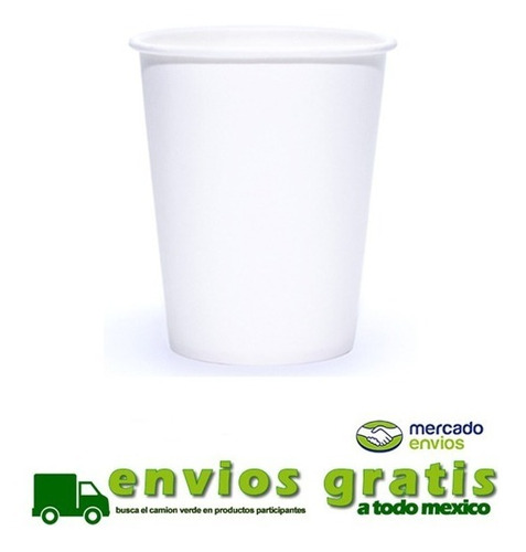 vaso de papel encerado 12 oz, 1000 pz bebida caliente*