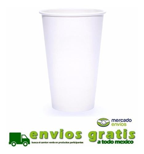 vaso de papel para cafe 16 oz con 1000 piezas