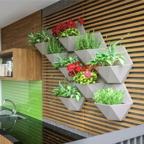 vaso de parede favo 30cmx35xm japi cimento cbwt