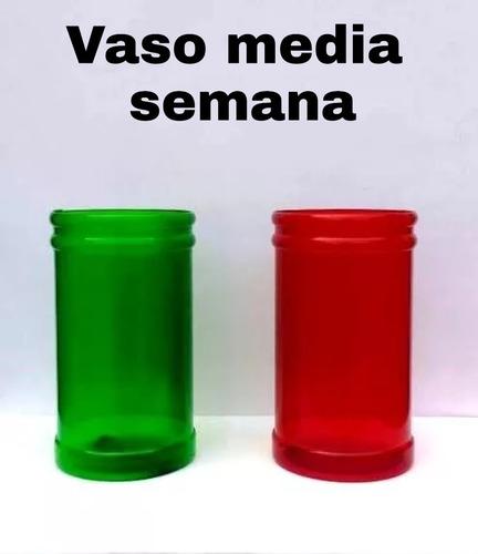 vaso de plástico pvc para veladora ecológico