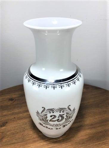 vaso de porcelana para bodas de prata 25 anos de casamento