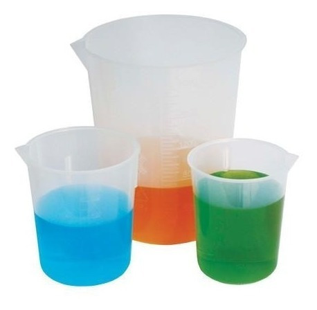 vaso de precipitado de 2000 ml. de plastico polipropileno