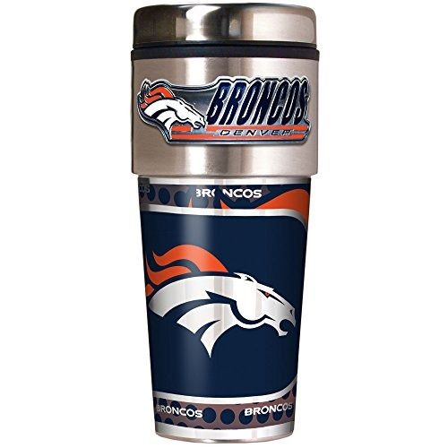 Vaso De Viaje Metálico Nfl Denver Broncos 0d2758bd9d0