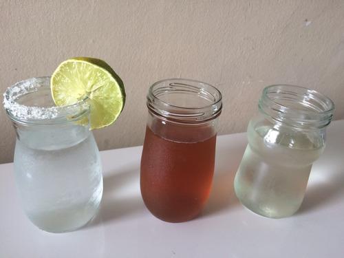 vaso de vidrio 300cc sin tapas metálicas lavados y limpios