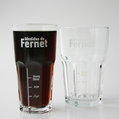 vaso de vidrio fernet grande - belgrano