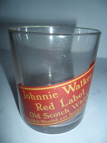 vaso de whisky jhonnie walker red label corto imperdible.///