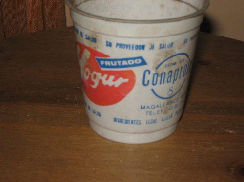 Vaso de yogurt conaprole de 180cc plastico viejito leche - Vasos para yogurt ...