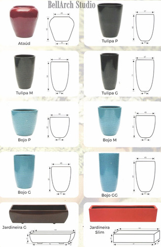 vaso decorativo fibra tulipa p