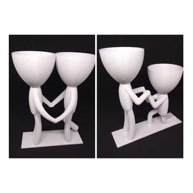 Vaso Decorativo Love Robert Planta  - Kit Com 2 - 17cm