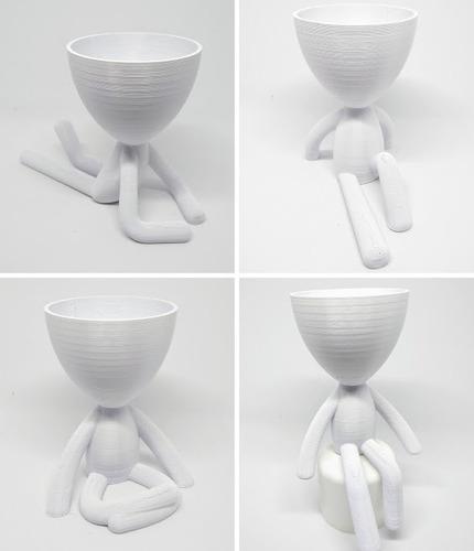 vaso decorativo robert planta para suculentas - kit com 4