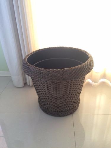 vaso em junco/fibra sintetica