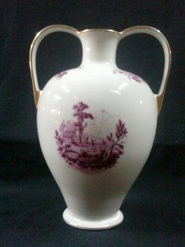 vaso em porcelaine de baudour  belga - antigo