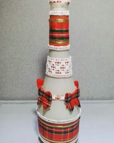 vaso em vidro artesanal para arranjo decoração natalina