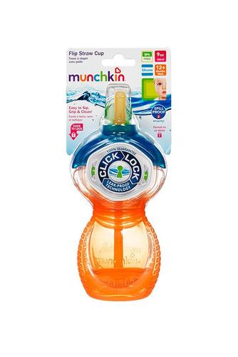 vaso entrenador munchkin 10 oz pitillo retráctil naranja