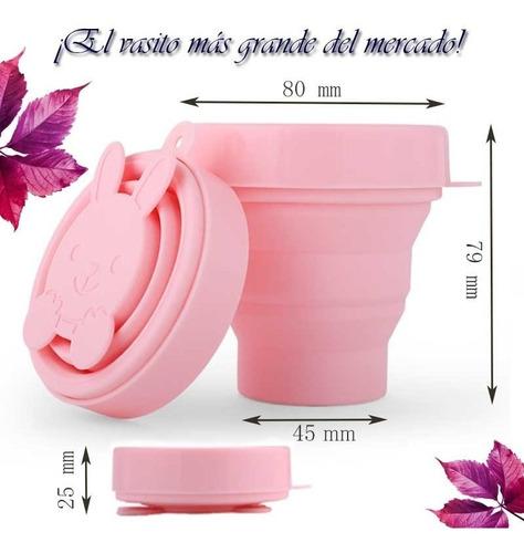 vaso estelizador copa menstrual diseño conejito osito