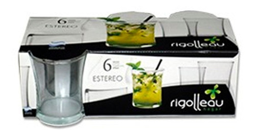 vaso estereo pack x 6 275 ml  34065