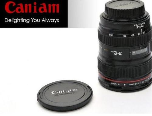 vaso estilo lente de cámara
