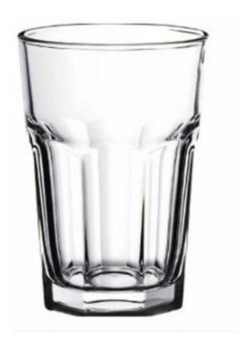 vaso facetado x6 400ml transparente durax gaseosa bar resto