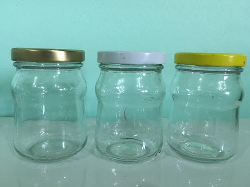 vaso frasco envase 200cc con tapa metálica twist off  53mm