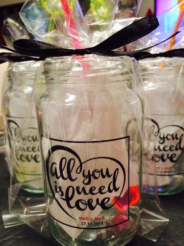 vaso frasco trago souvenir casamiento | 15 años | cumpleaños
