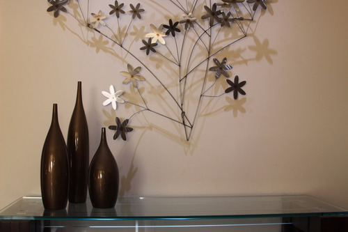 vaso garrafa de cerâmica bronze mazzotti jogo com 3