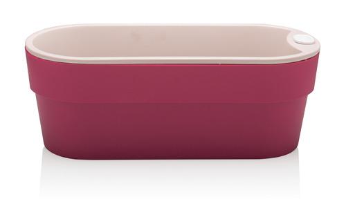 vaso hortinha autoirrigável casa rosa de polipropileno ou