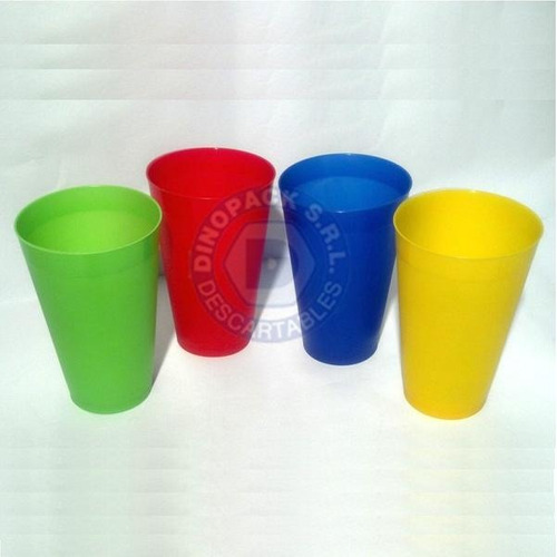 vaso irrompible trago largo 500cc en colores fluo x 10 un.