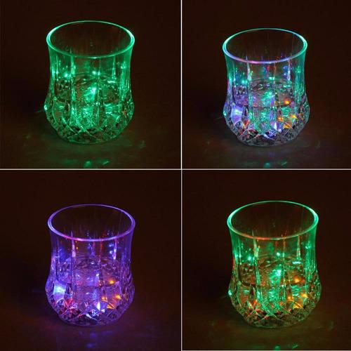 vaso led automatico multicolor rgb con sensor  para fiestas