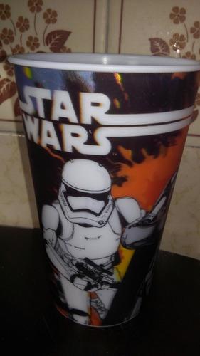 vaso lenticular plastico star wars disney fiesta! recuerdo