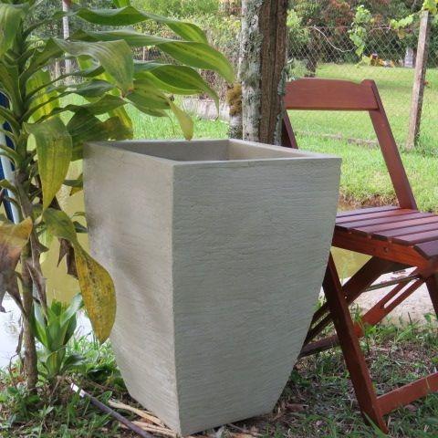 vaso leve de plantar 60x40 para varanda apartamento bg8 m