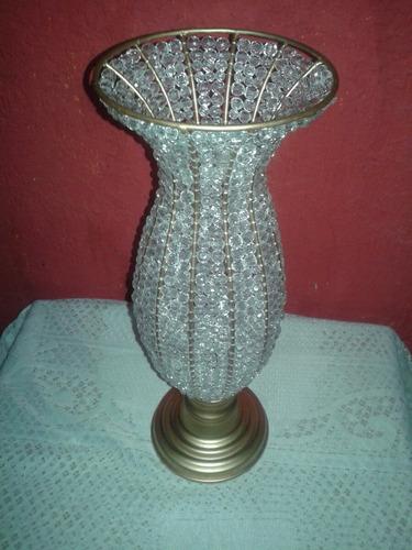 vaso luxuoso em cristal 45cm